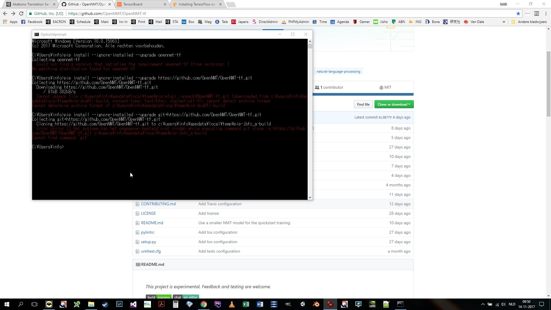 OpenNMT on Python in Windows: Not working - Support - OpenNMT Forum