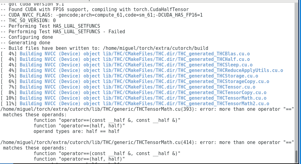Install Torch 7 with CUDA 9 1 - Support - OpenNMT Forum